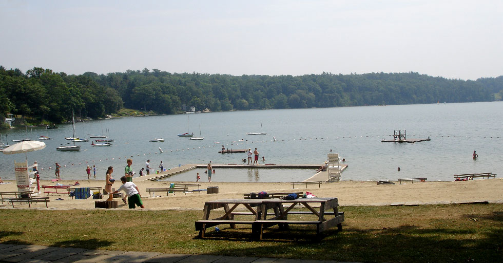 A view of the grove beach on a sunny day